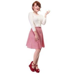 Collectif Red & Gingham Tammy A-Line Pinup Skirt